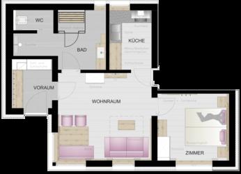 Grundriss - Apartment Mader